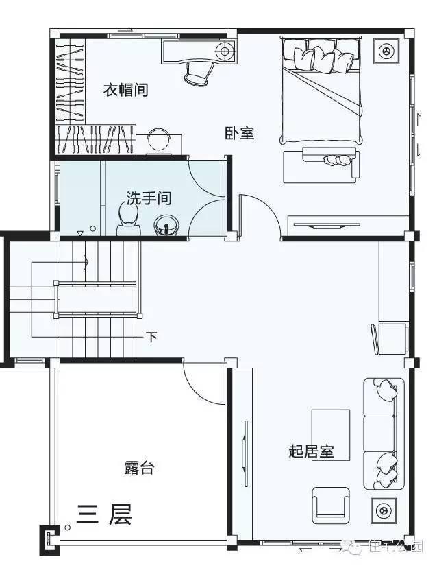 3套3层新农村自建房户型找不同 面宽8米