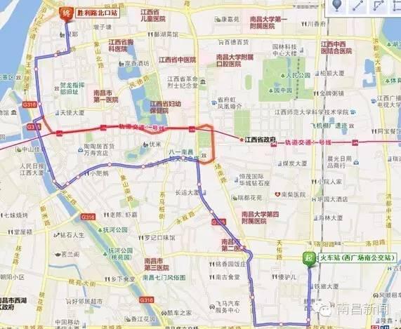 南昌理工学院地图_调整后线路走向:南昌理工—庐山中大道—枫林大道—紫荆路(单向)—