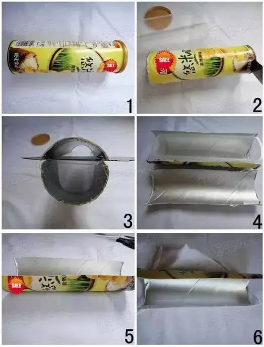 薯片桶的创意手工制作,跟孩子一起动手!