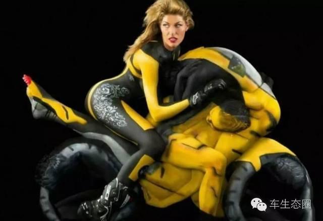 人体艺术-亚_人体彩绘艺术家emma hack受南澳大利亚州的发动机事故委员会委托,为