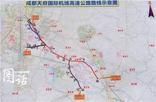 简阳机场位置_以隧道穿越龙泉山至简阳境,设枢纽互通接第二绕城高速公路,经新机场