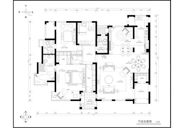 郑州200多平米大平层装修设计案例,经典设计!