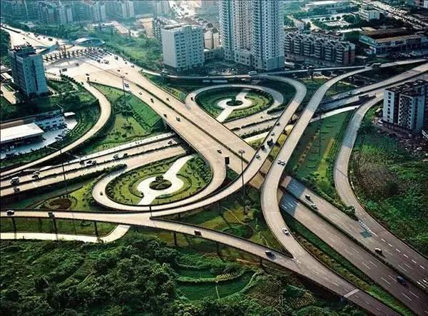 """重庆桥梁这么 炫 」 """"桥都""""重庆,立交桥注定是不一样的烟火 想象力"""
