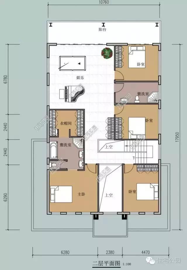 13x17.9米农村现代钢结构别墅,简约大气含预算