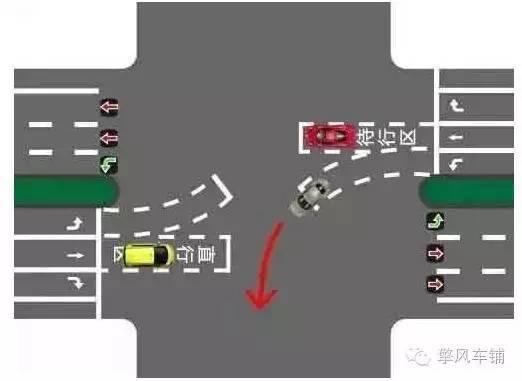 有红绿灯的十字路口怎样左转弯最安全?