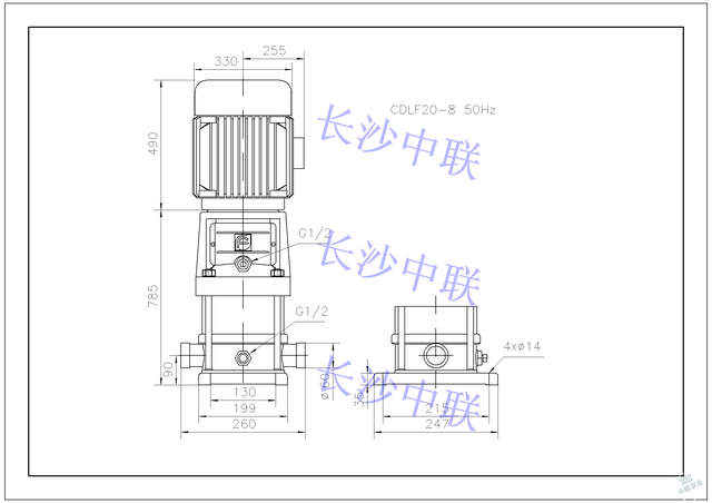 cdl20-8多级泵结构图