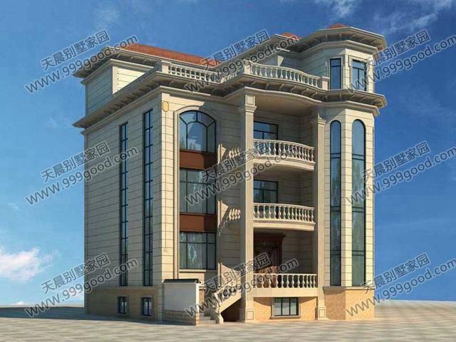 新农村欧式带别墅四层院落设计图!室内设计学哪家好图片