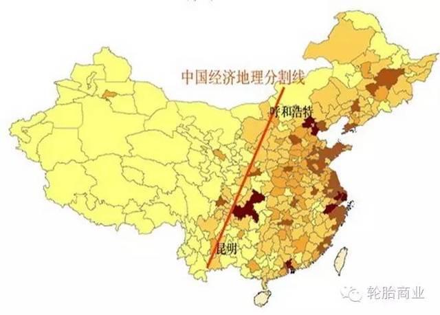 中国轮胎经济分布地图-新图片