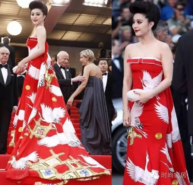 △范爷曾在第64届戛纳电影节开幕式的红毯,仙鹤仙鹤三国电影穿着裙.抹胸q版礼服图片