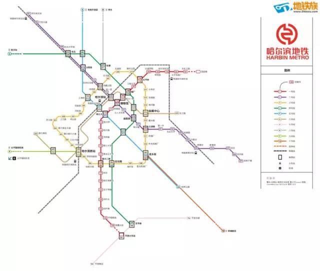 哈尔滨地铁规划图