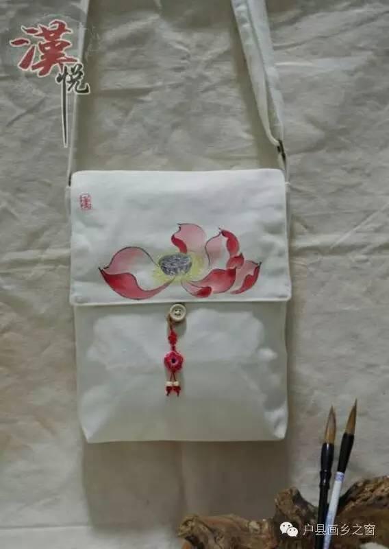 """【汉悦手绘工作室】手绘包diy,创意""""袋""""回家"""