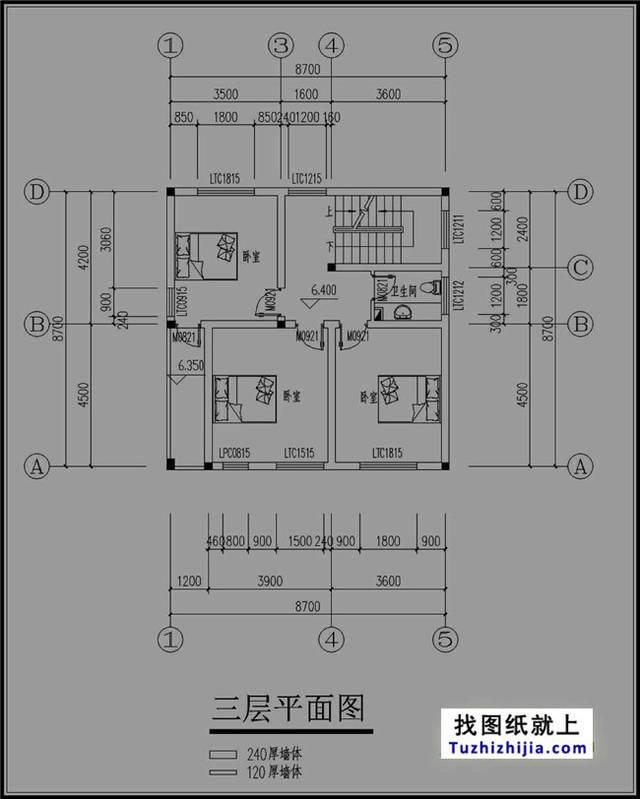 90平米复古四层图纸设计内涵任务效果图房屋阶段详细的设计图片
