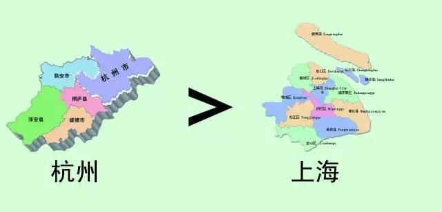 杭州人口面积_同为长三角地区,江苏和浙江到底谁比较富裕一点