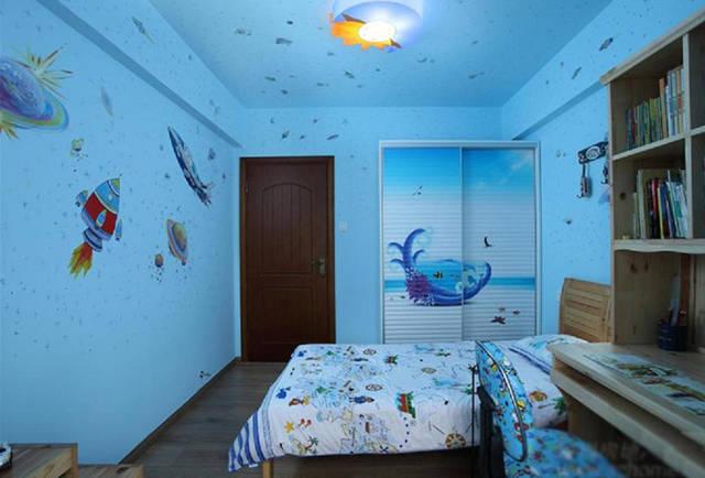 儿童房装修刷蓝色好?10款儿童系颜色房效果图清华大学园林景观设计培训图片