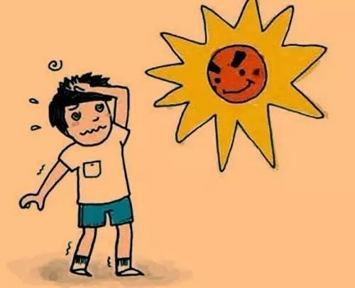 中暑 图片