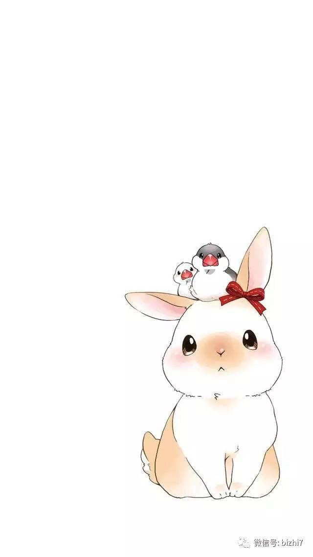 超萌可爱卡通兔子图片