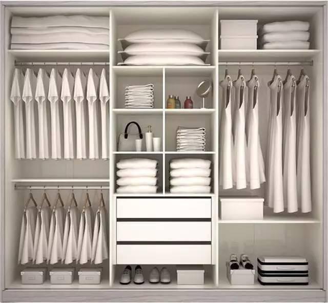 衣柜内部结构图,同样的衣柜也有不同的分区!