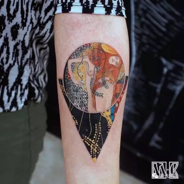 把世界名画纹上身!这么纹身才最高大上!图片