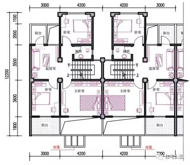 农村自建房图纸,户型定制设计,施工队建房案例,请见微信公众号:住宅