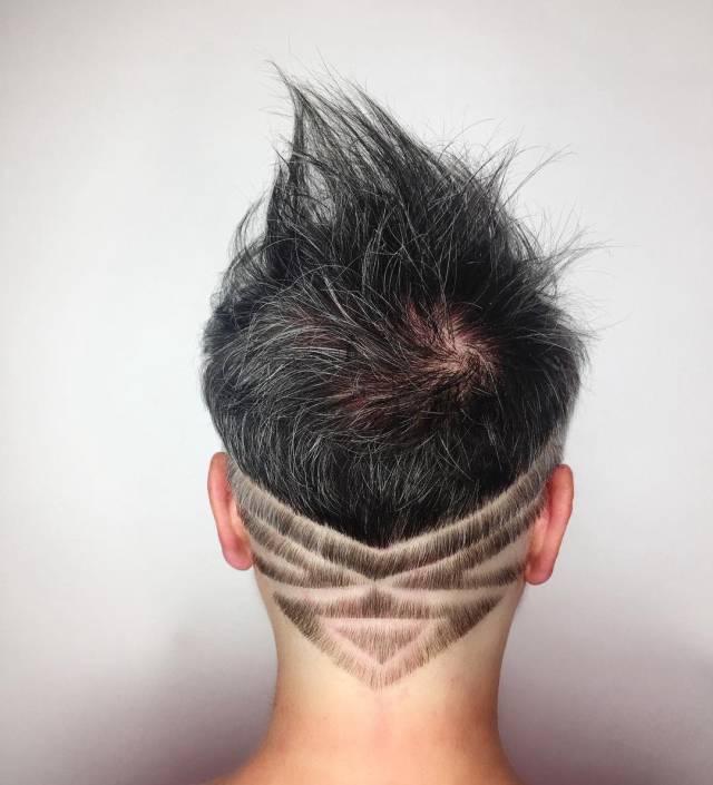 女士雕刻发型图片