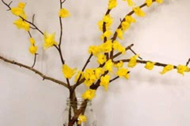 春天儿童手工制作迎春花