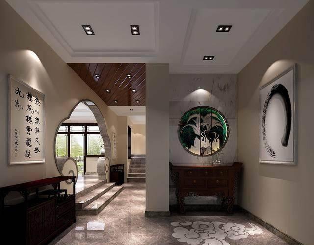 中式别墅庭院的装修设计,美轮美奂图片