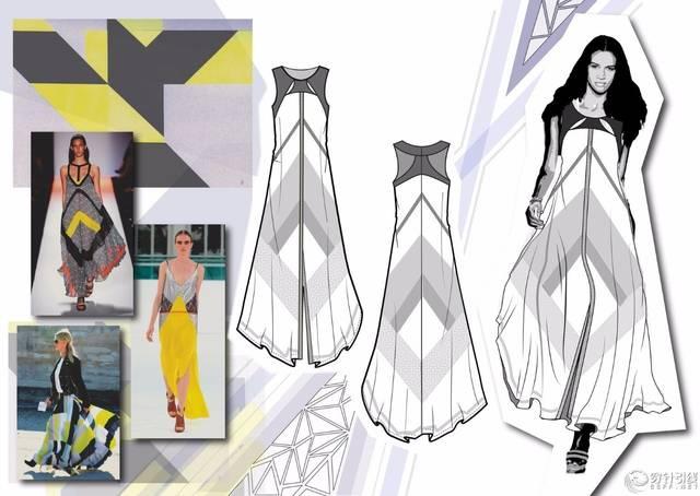 手绘探讨   如何画一手漂亮的服装款式图?图片