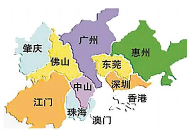 粤港澳大湾区各城市的经济总量_粤港澳大湾区城市地图