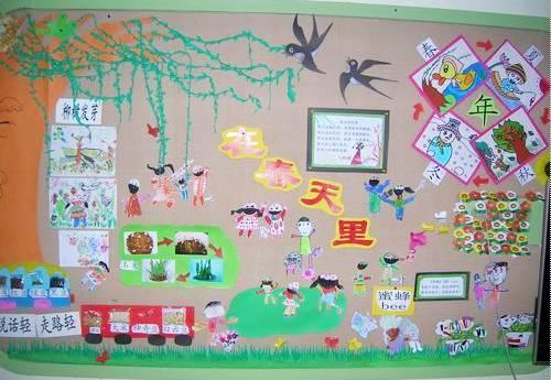 幼儿园关于春天的主题手工 环创图片