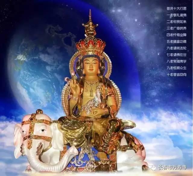 尊上 普贤菩萨代表一切诸佛的理德与定德,与尊上文殊菩萨摩诃萨的智德