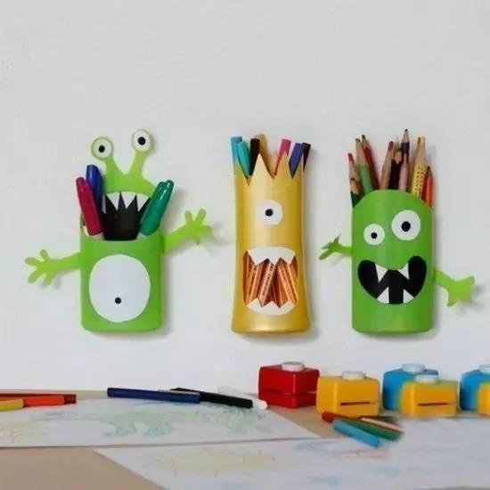 幼儿园亲子手工之废物利用,笔筒做法,独爱这几款