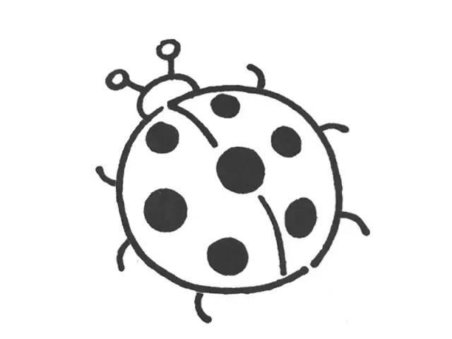 小提示:为了让孩子画出的圆形更圆一些,可以提醒孩子先画左半圆再画右图片