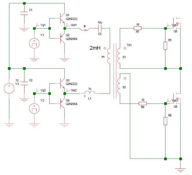 【全程波形】图解mosfet驱动电路—直驱,隔离驱动,电容耦合驱动,双管