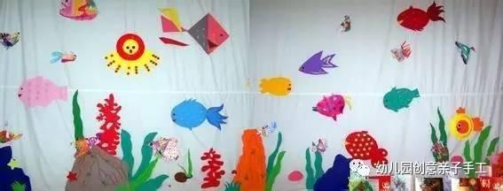 幼儿园环创之海底世界主题,丰富多彩的墙面装饰