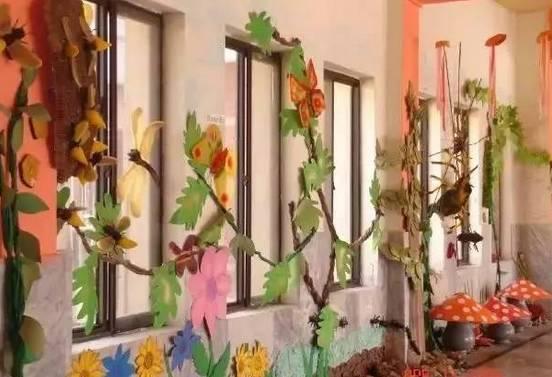 春暖花开,幼儿园主题墙及楼道环创布置!图片