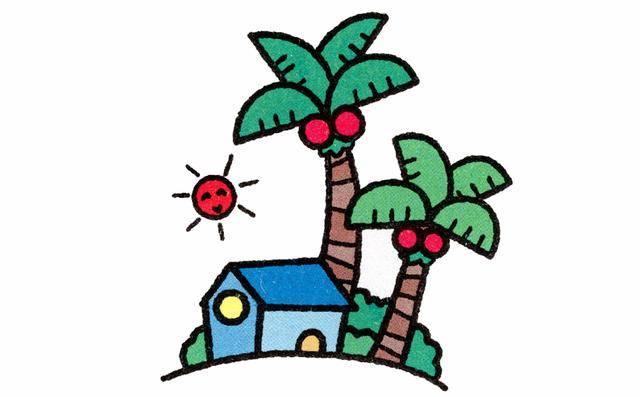 儿童简笔画:画一个春夏秋冬,让孩子感受四季变化图片