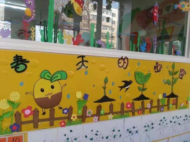 幼儿园各区角春天手工环创布置!图片