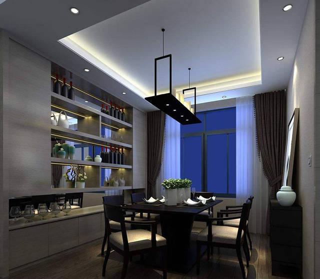 这款酒柜间隔规划有浓浓的美式古典个性,棕色木质的酒柜,给人感觉