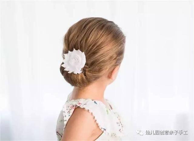 幼儿园亲子手工之女孩发型,让孩子发型不重样!