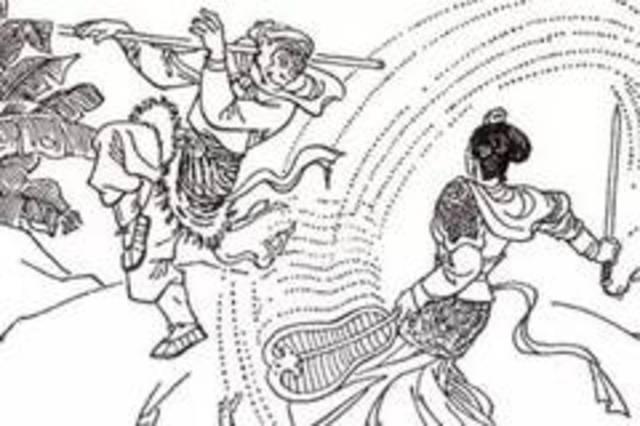 """""""火焰山""""的故事见于《西游记》,唐僧,猪八戒,孙悟空,沙僧师徒四人西图片"""