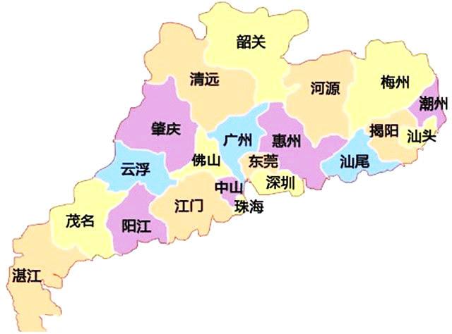 广东省城市经济总量排名_广东省一二线城市排名
