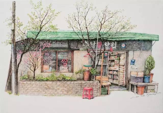 手绘插画 | 各种杂货店 圆珠笔手绘