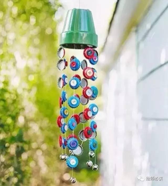 【手工】100款幼儿园瓶盖创意手工制作!