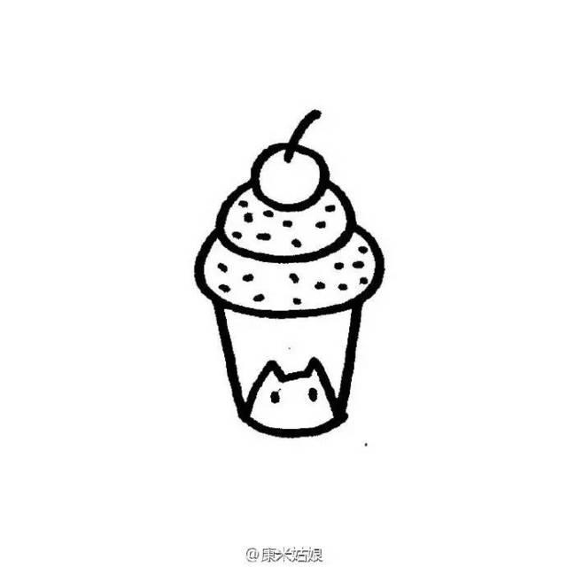 简笔画素材 | 冰淇淋的九种画法图片