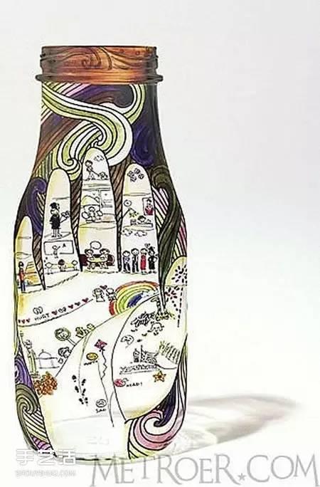 【创意生活】饮料瓶手绘图片大全 手工饮料瓶画画作品