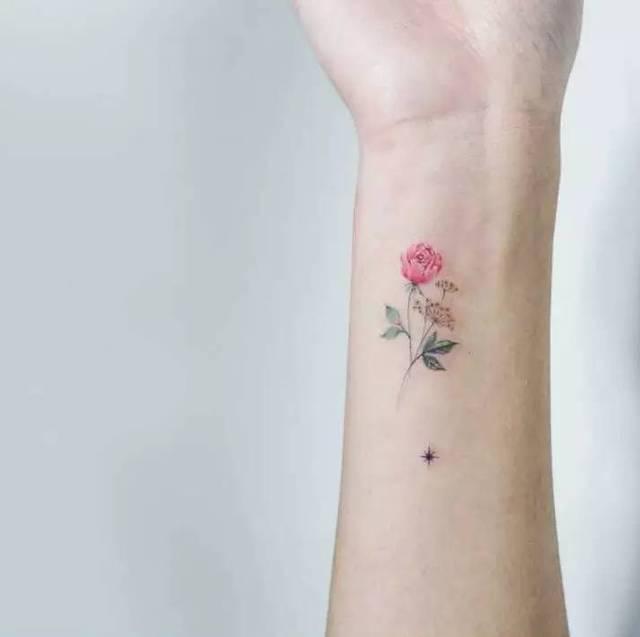特二电台|让你桃花儿朵朵来的小清新纹身——初春篇图片