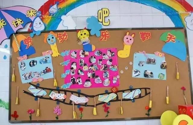 幼儿园五一劳动节专题:精选主题墙+儿歌大全