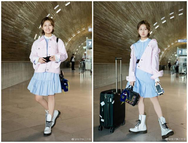 感觉张子枫请了个假造型师,总给小孩穿大人衣服!