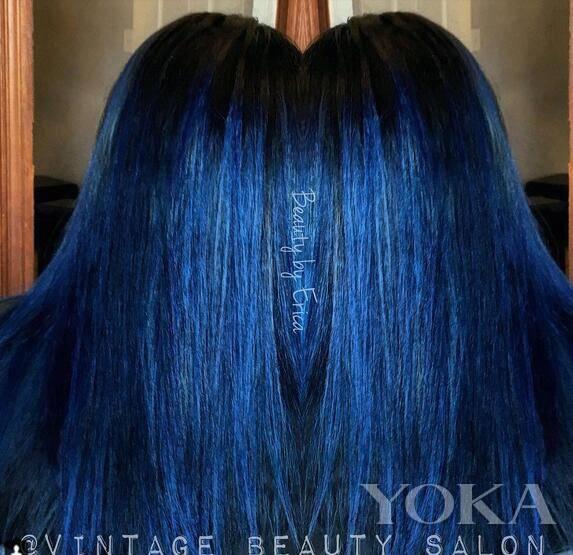 想染蓝色头发?来看看instagram上网友的蓝色头发