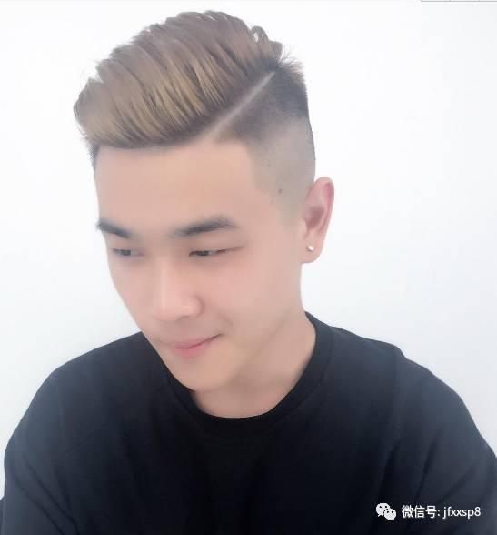 """2017男士发型流行""""一道杠""""图片"""